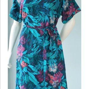 Ann Taylor Midi dress Vintage tropical
